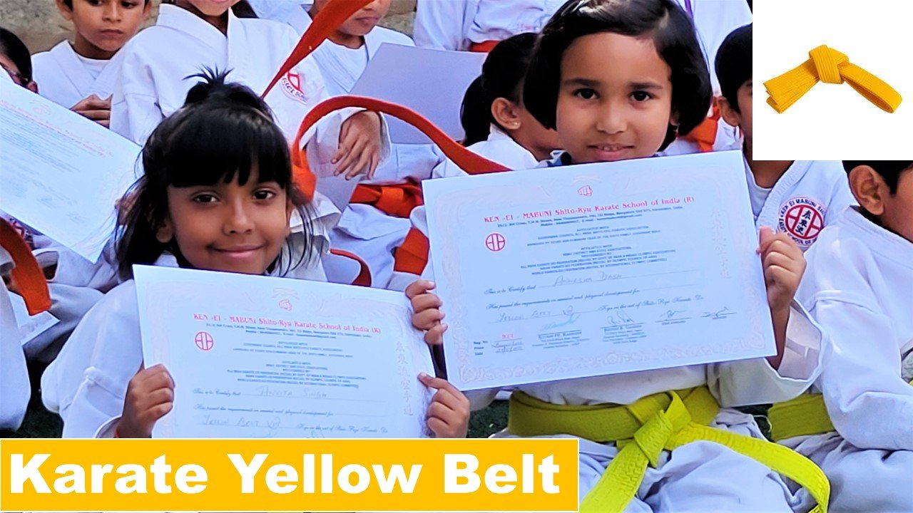 Karate yellow belt exam