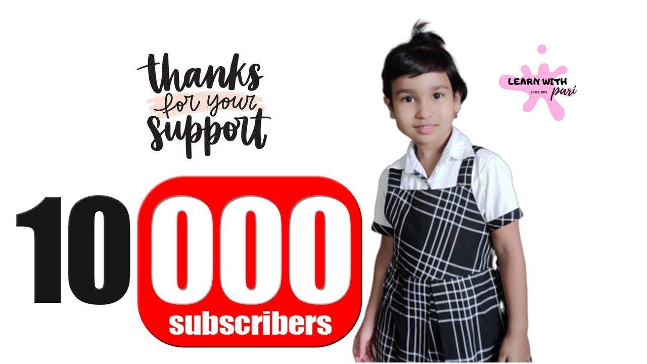 LearnWithPari – 10K Subscribers Milestone- YouTube