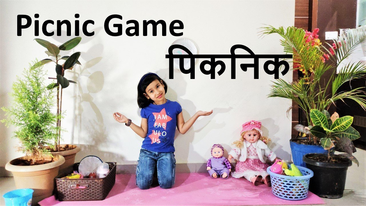 Picnic Game with Toys learnwithpari