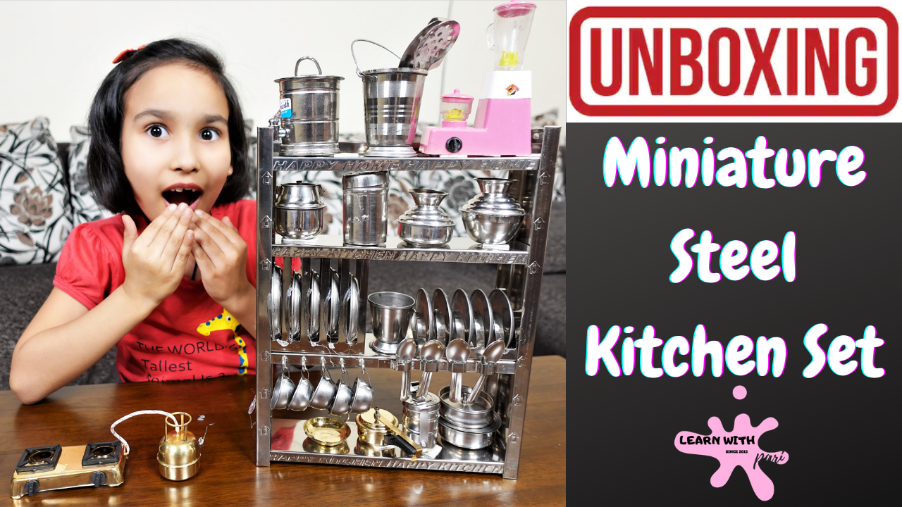 Miniature Steel Kitchen Set Unboxing