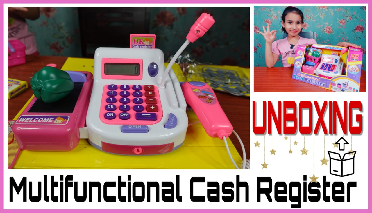 Read more about the article Cash Register Pretend to Play Unboxing / Shop Keeper Game Accessories