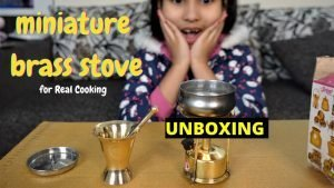 Steel home miniature brass combo of stove  / #UNBOXING / HINDI