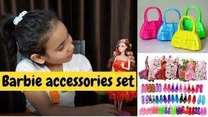 Barbie accessories set unboxing