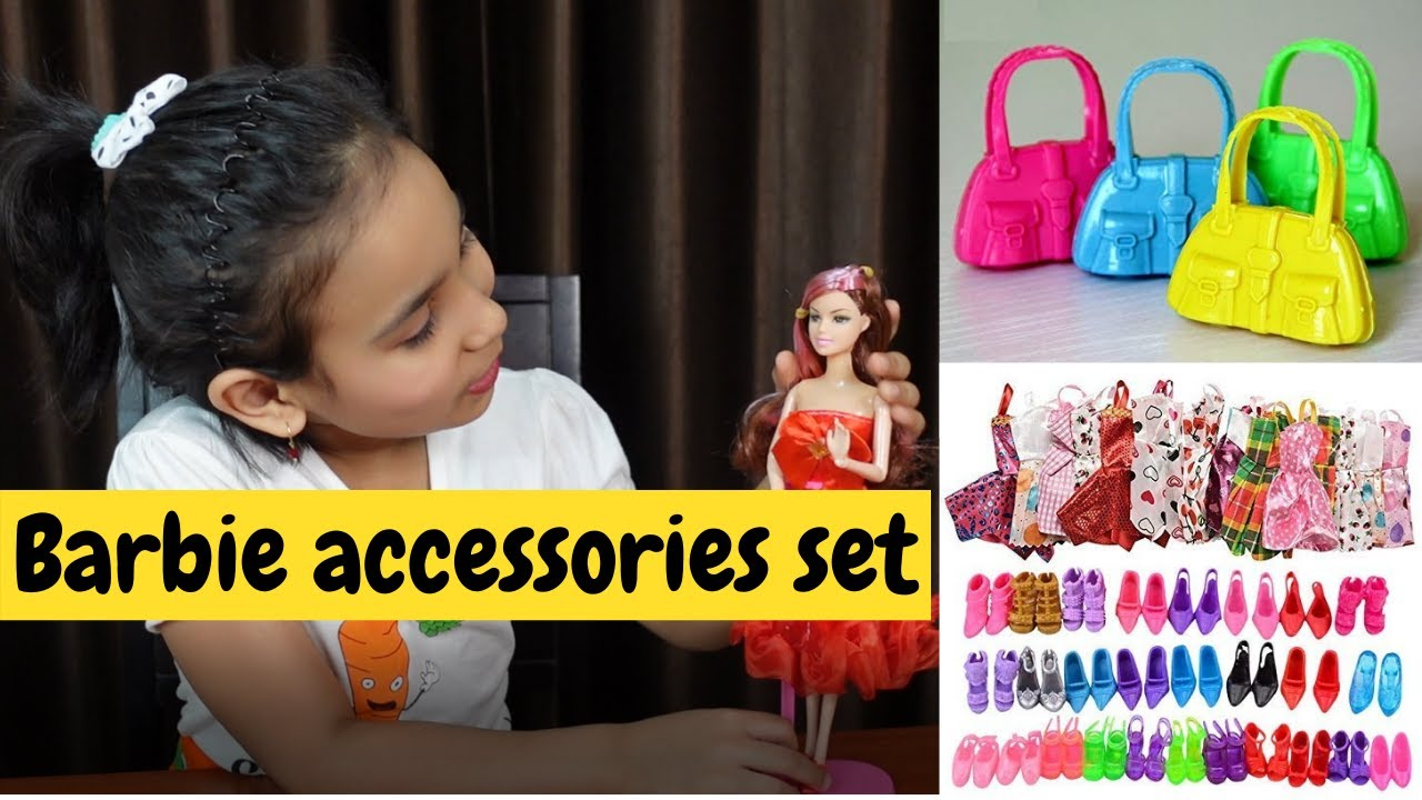 Barbie accessories set unboxing