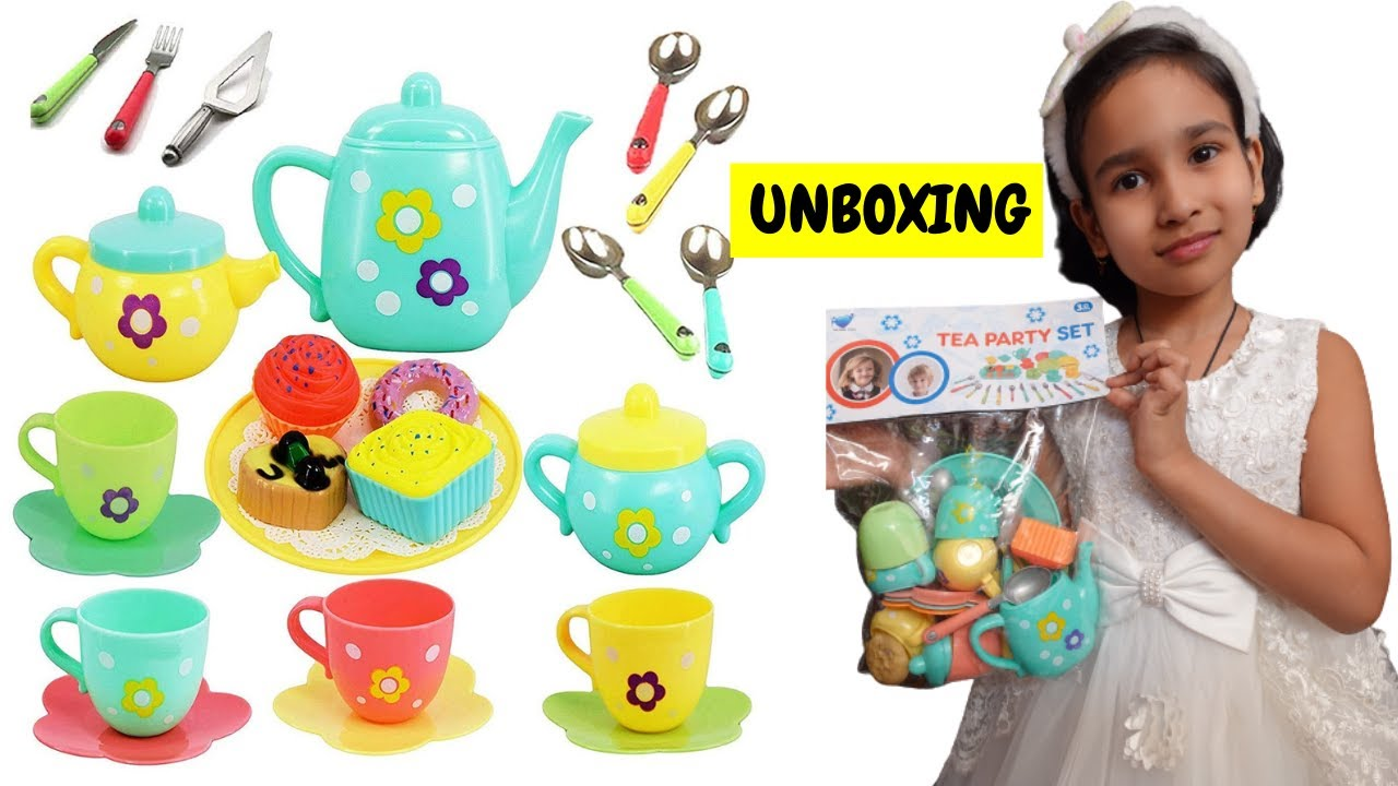 Tea Party Set Unboxing/ Cooking Set unboxing