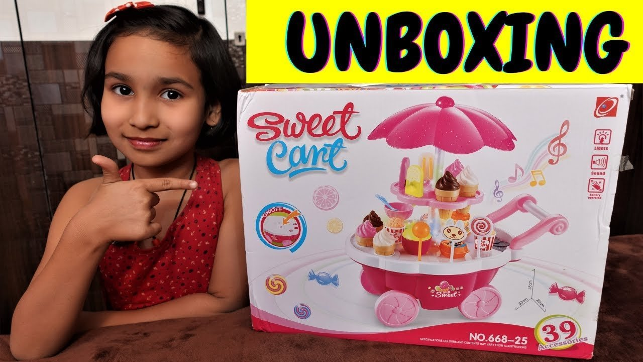 Ice Cream Trolley candy cart unboxing